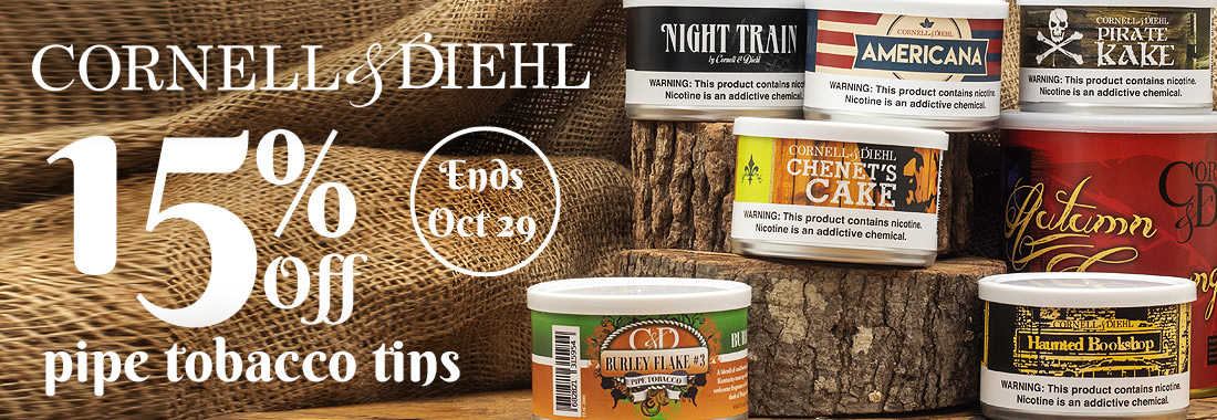 15% Off C&D tinned pipe tobacco
