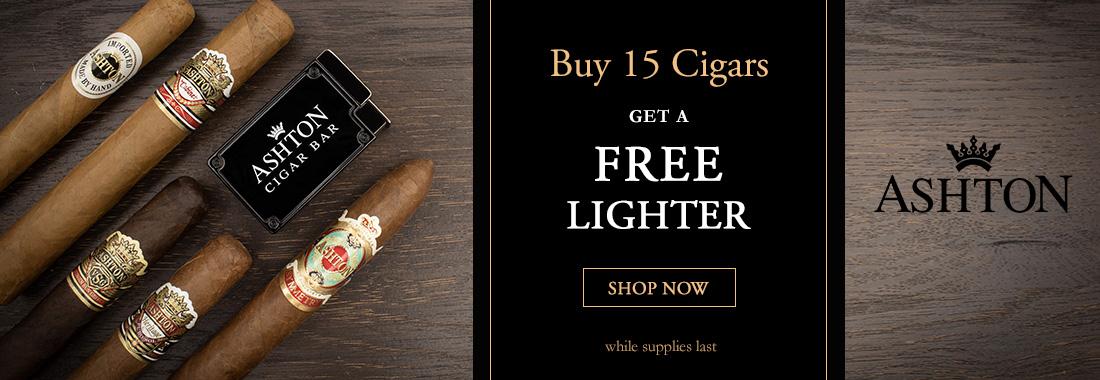 Free Ashton Torch Lighter With Any 15 Ashton Cigars