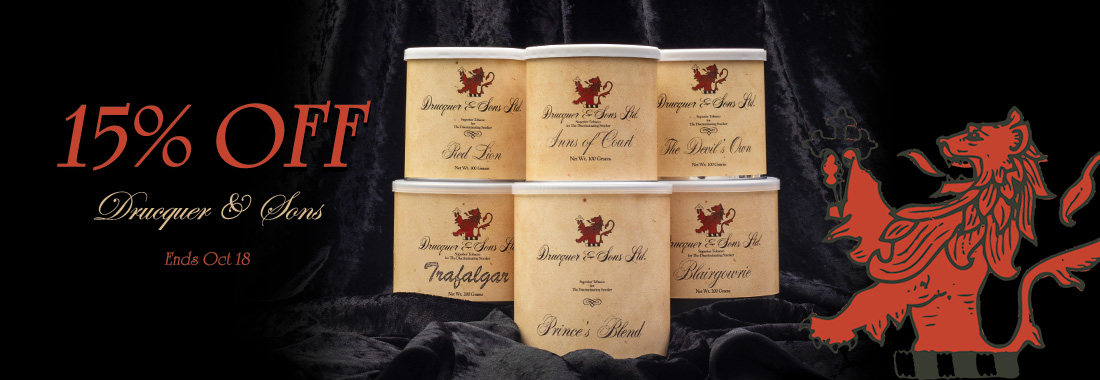 15% Off Of Drucquer & Sons Tobacco At Smokingpipes.com