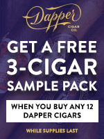 Free 3-Cigar Sampler Pack With Any 12 Dapper Cigars