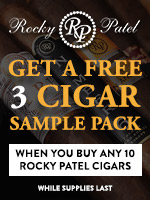 Free Sampler Pack With Any 10 Rocky Patel Cigars