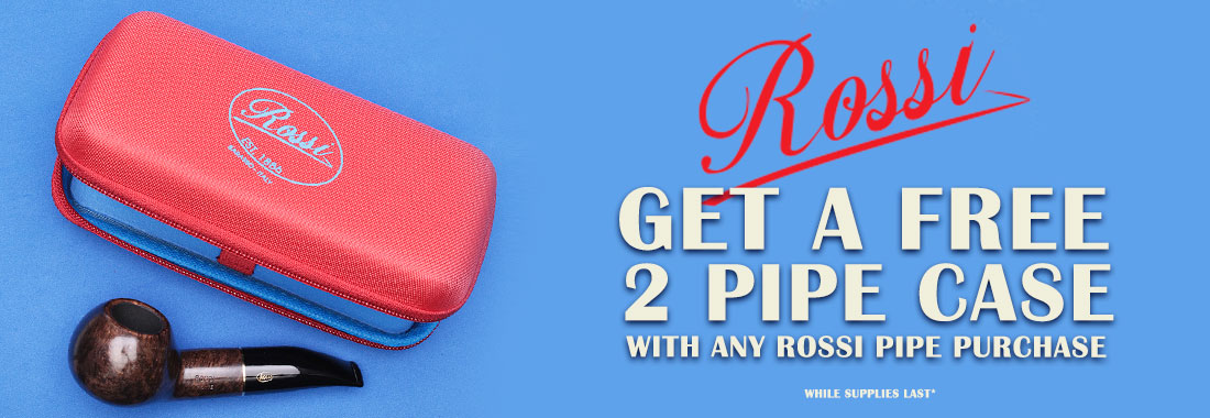Free Rossi 2-Pipe Pouch With The Purchase Of Any New Rossi Pipe