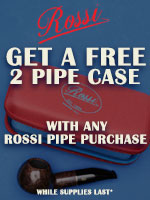 Free Rossi Pouch With The Purchase Of Any New Rossi Pipe