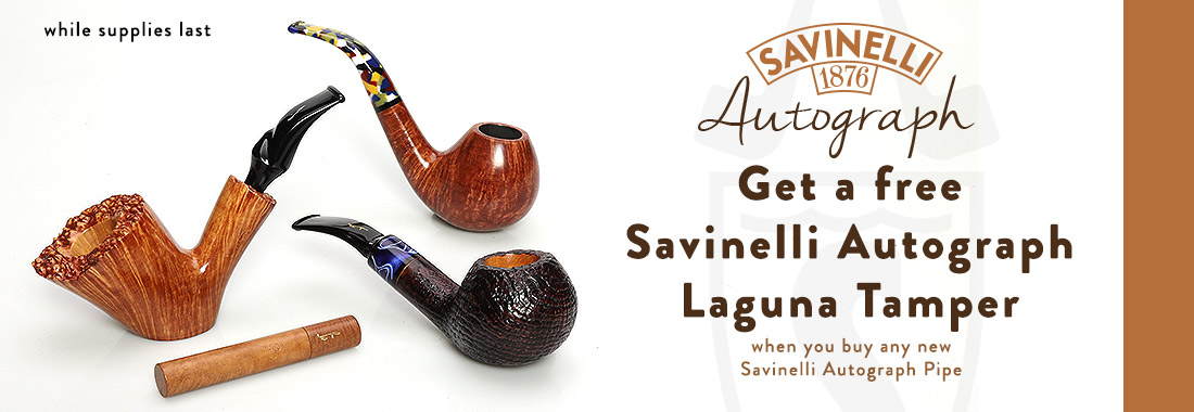 Free Savinelli Laguna Tamper With Any New Savinelli Autograph Pipe At Smokingpipes