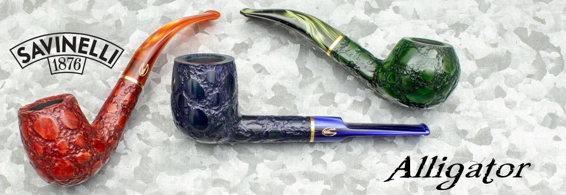 Savinelli Alligator Pipes at Smokingpipes.com