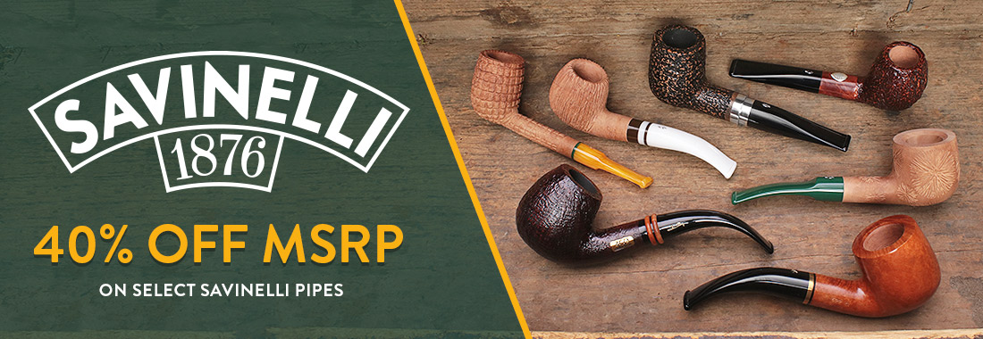 40% Off MSRP On Select Savinelli Pipes At Smokingpipes.com