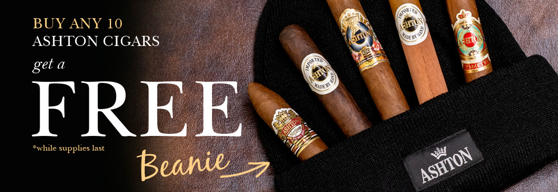 Free Ashton Beanie With The Purchase Of Any 10 Ashton Cigars