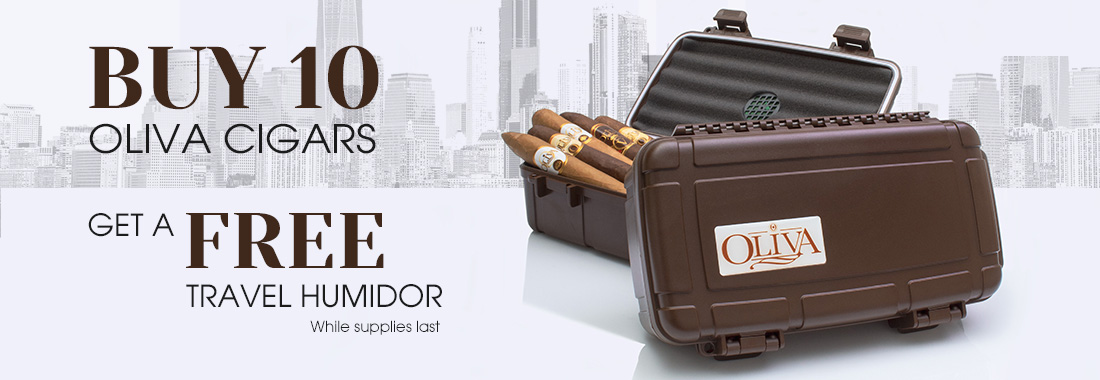 Free Travel Humidor with Any 10 Oliva Cigars
