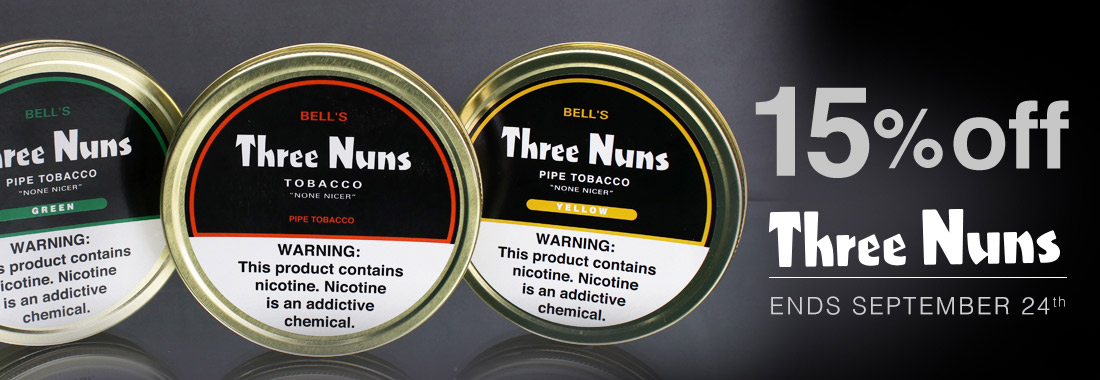 15% Off Three Nuns Pipe Tobacco