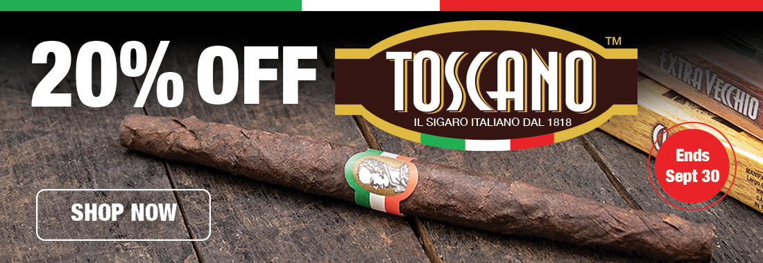 20% Off Of Toscano Cigars